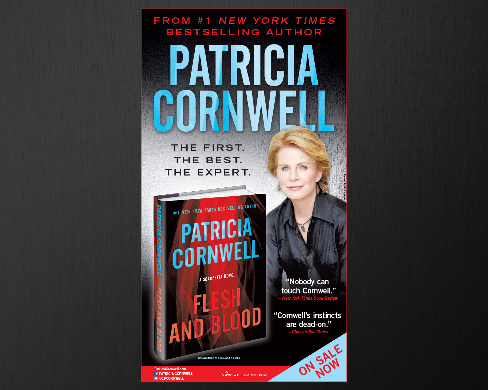 Patricia Cornwell - Flesh and Blood - New York Times Full Page Ad