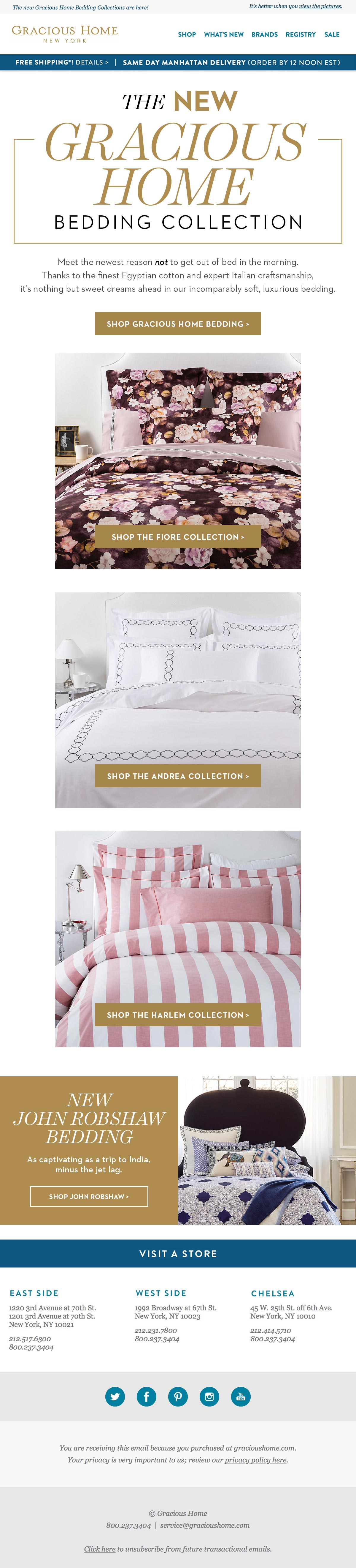 Gracious Home - Bedding email