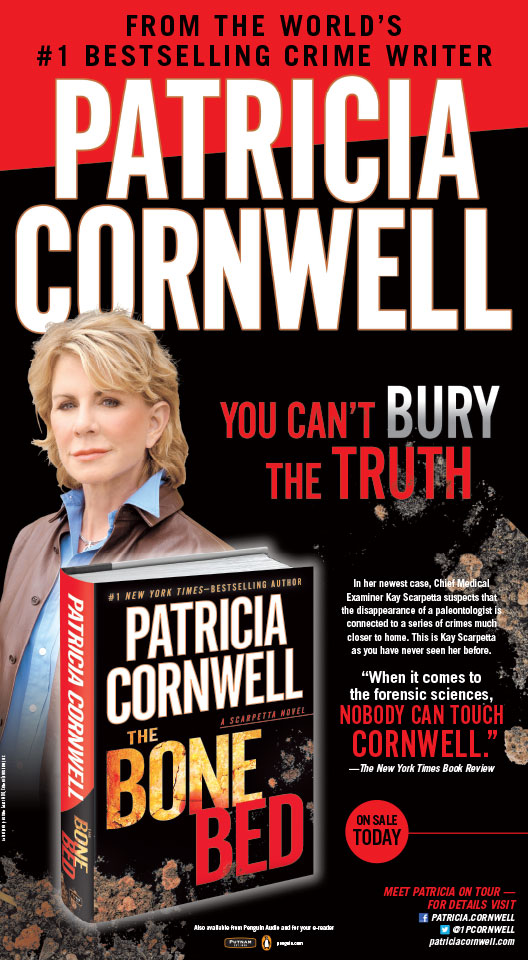 Patricia Cornwell - The Bone Bed - New York Times Full Page Ad