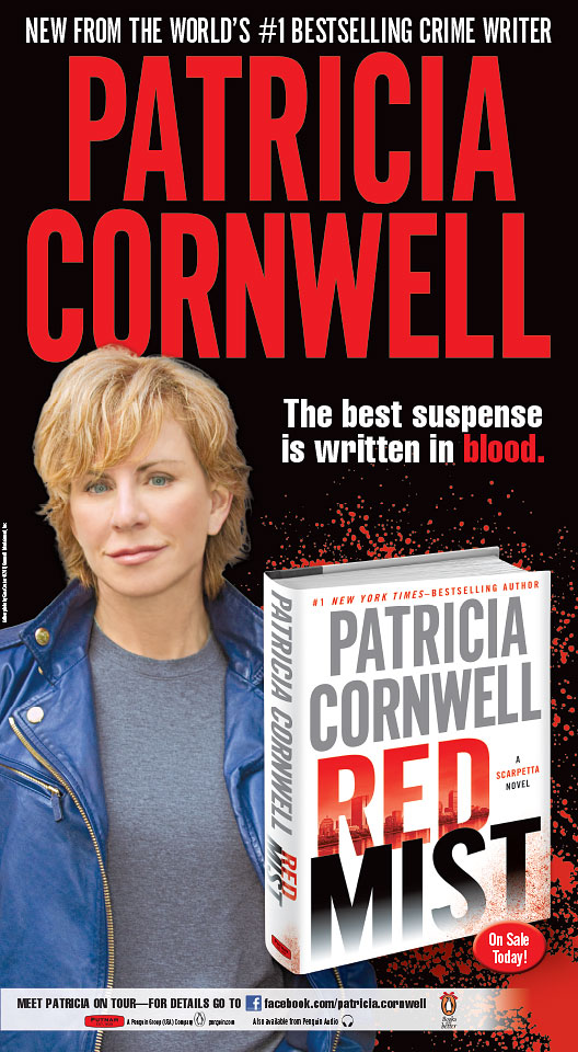 Patricia Cornwell - Red Mist - New York Times Full Page Ad