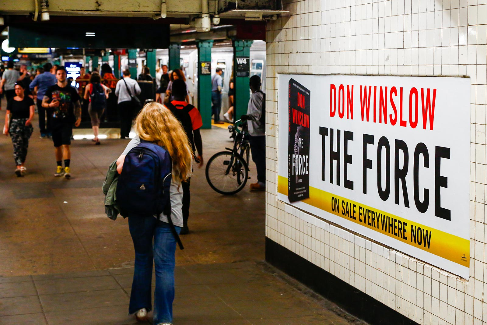 Don Winslow - The Force - W4th Station - Posters in Corridor