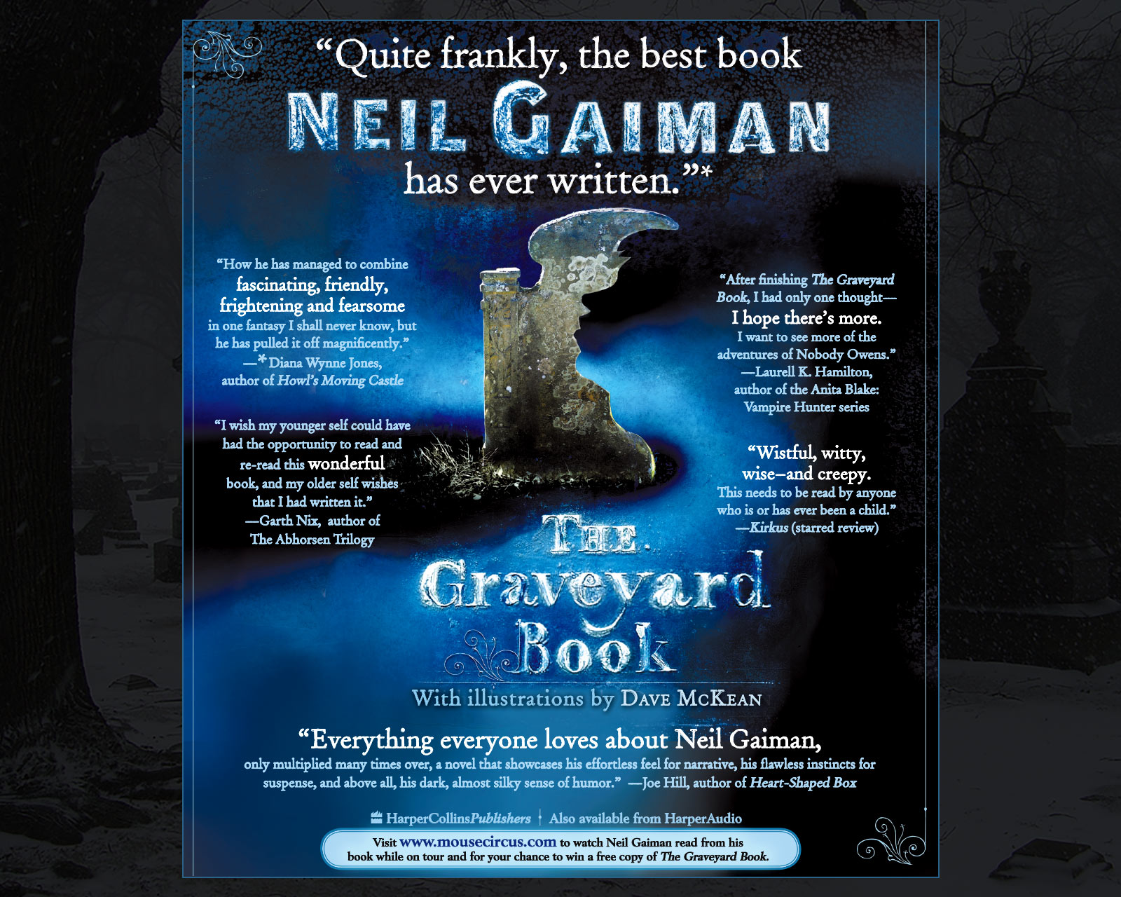 Neil Gaiman - The Graveyard Book - New York Times Book Review Full Page Ad