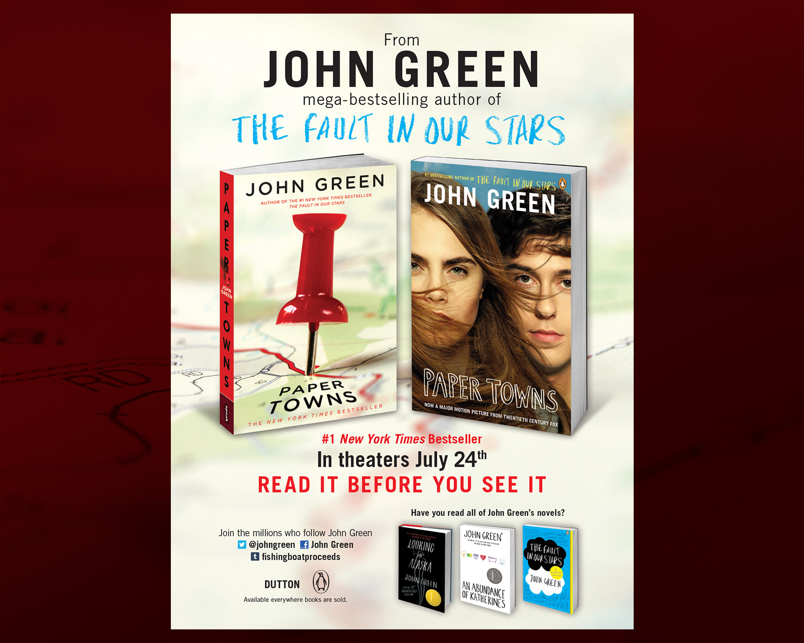 John Green - Paper Towns (movie tie-in edition) - Entertainment Weekly