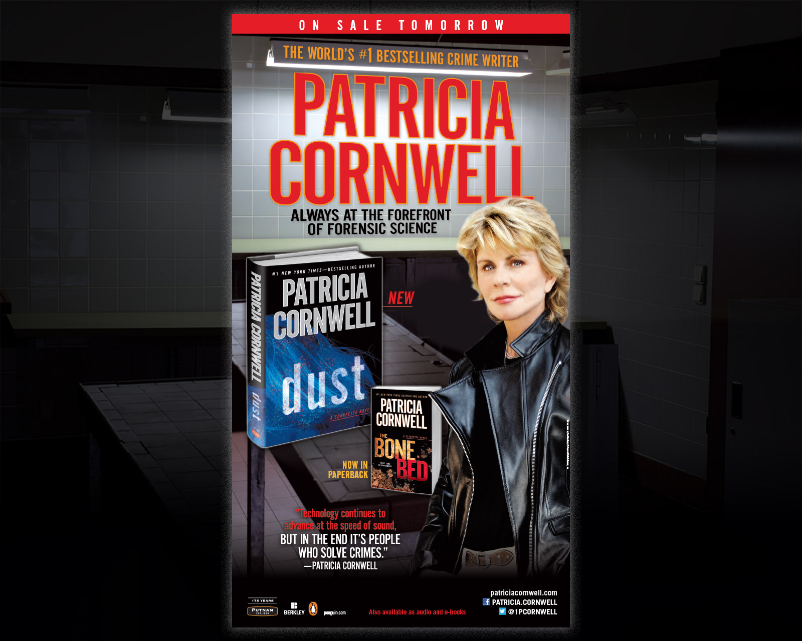 Patricia Cornwell - Dust - New York Times Full Page Ad