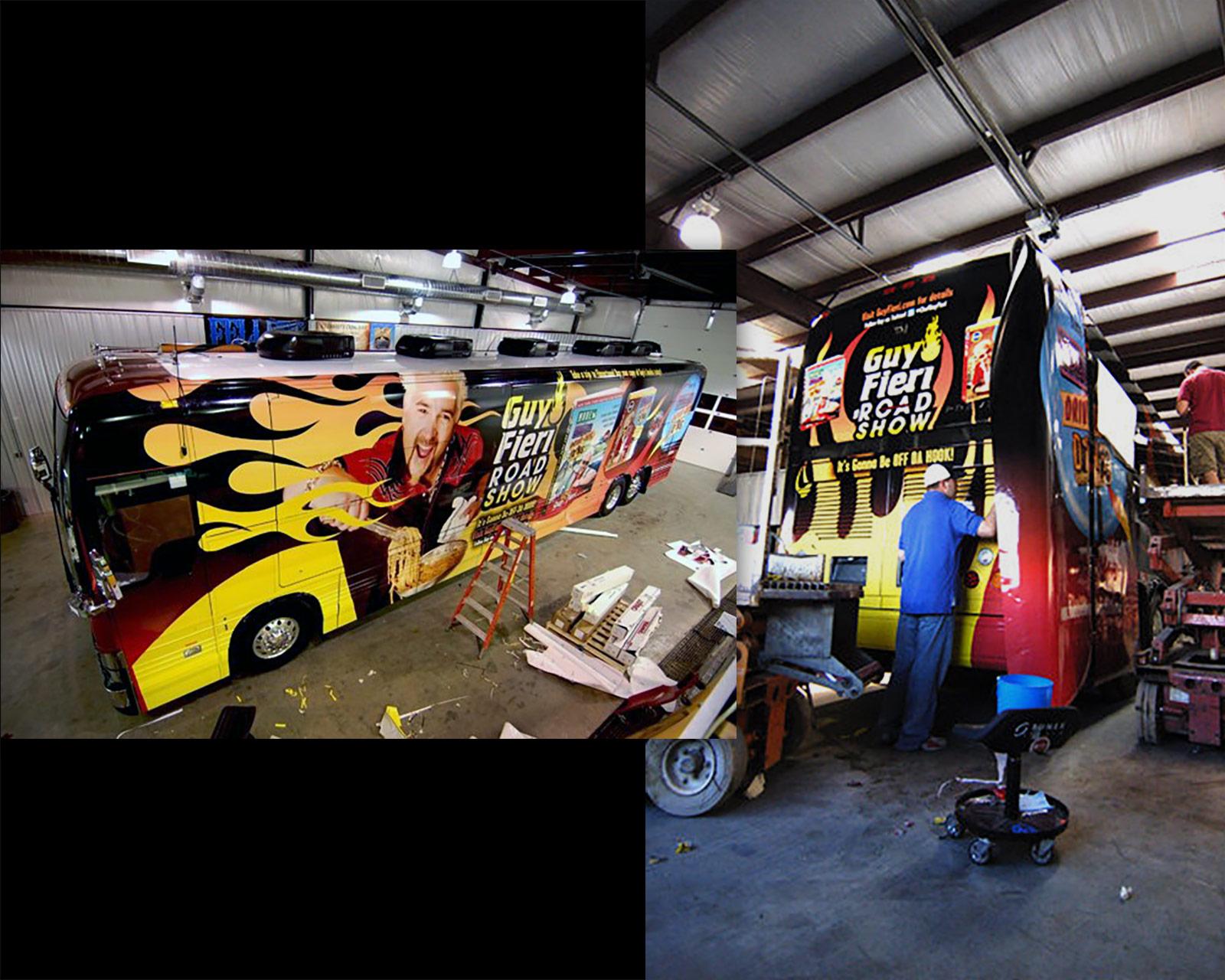 Guy Fieri Road Show - tour bus wrap