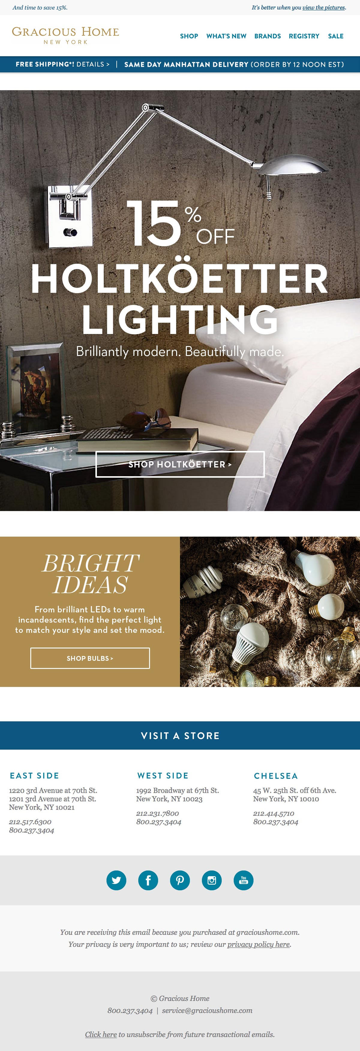 Gracious Home - Holtkoetter email