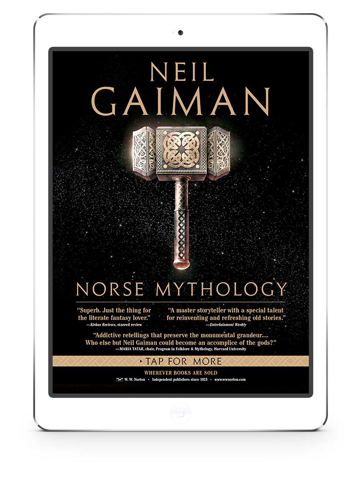 Neil Gaiman - Norse Mythology - New Yorker magazine - iPad