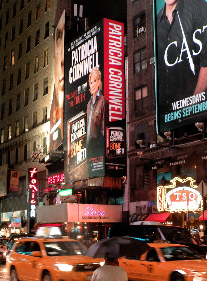 Patricia Cornwell - The Bone Bed - Billboard Times Square, NYC