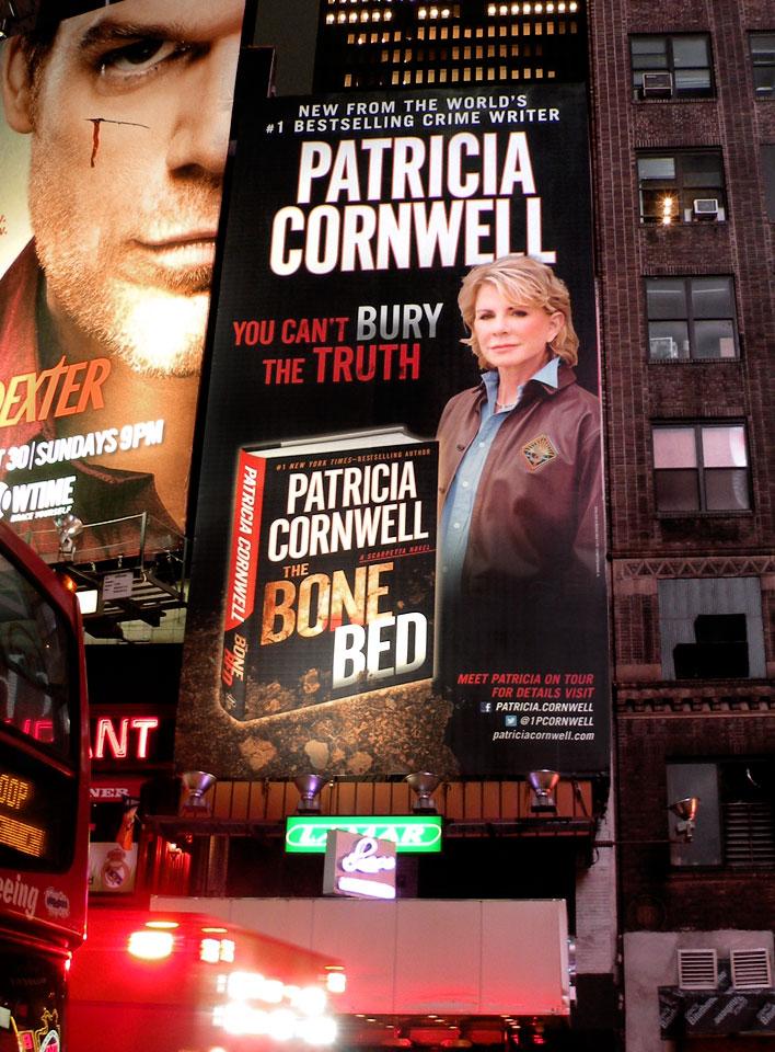 Patricia Cornwell - The Bone Bed - Times Square Billboard