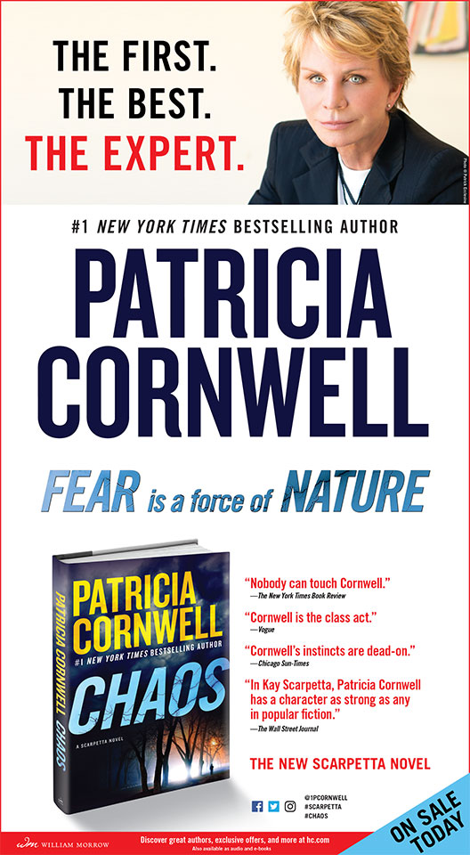 Patricia Cornwell - Chaos - New York Times Full Page Ad