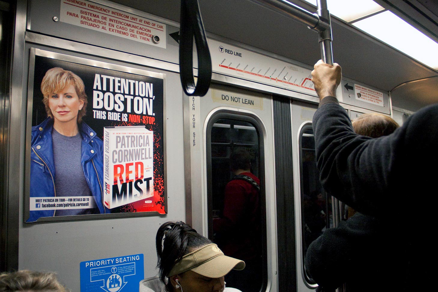Patricia Cornwell - Red Mist - Boston MBTA Posters