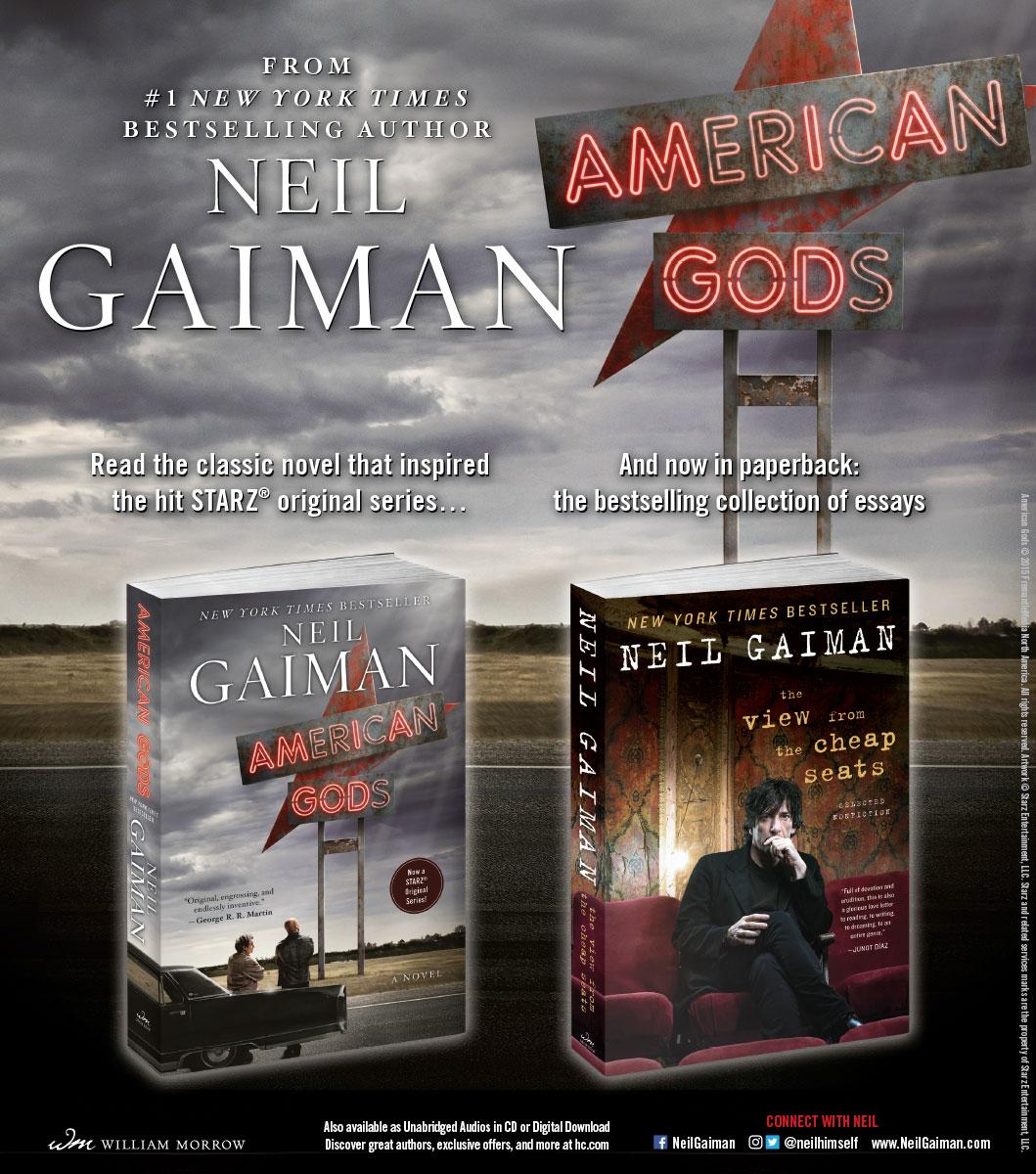 Neil Gaiman - American Gods - NYTBR