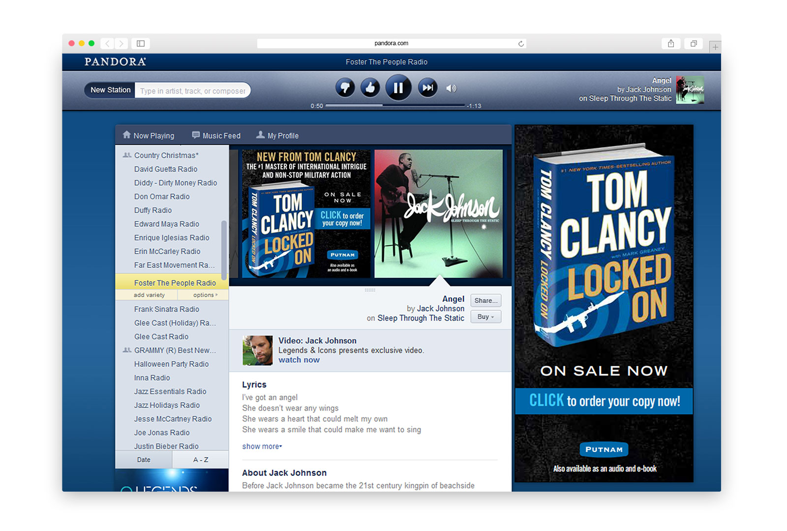 Tom Clancy - Locked On - Pandora