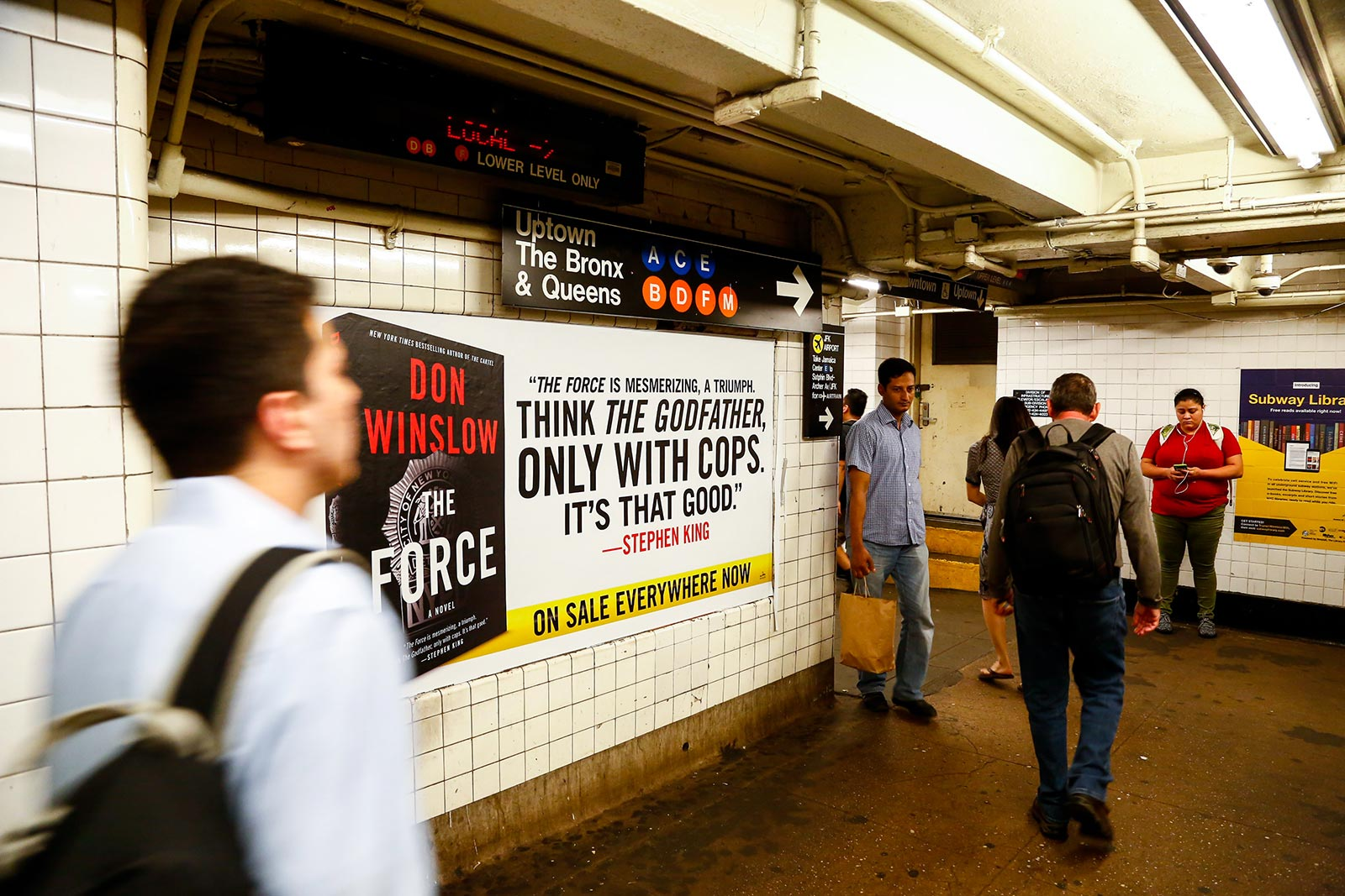 Don Winslow - The Force - W4th Station - Poster in Subway Entrance