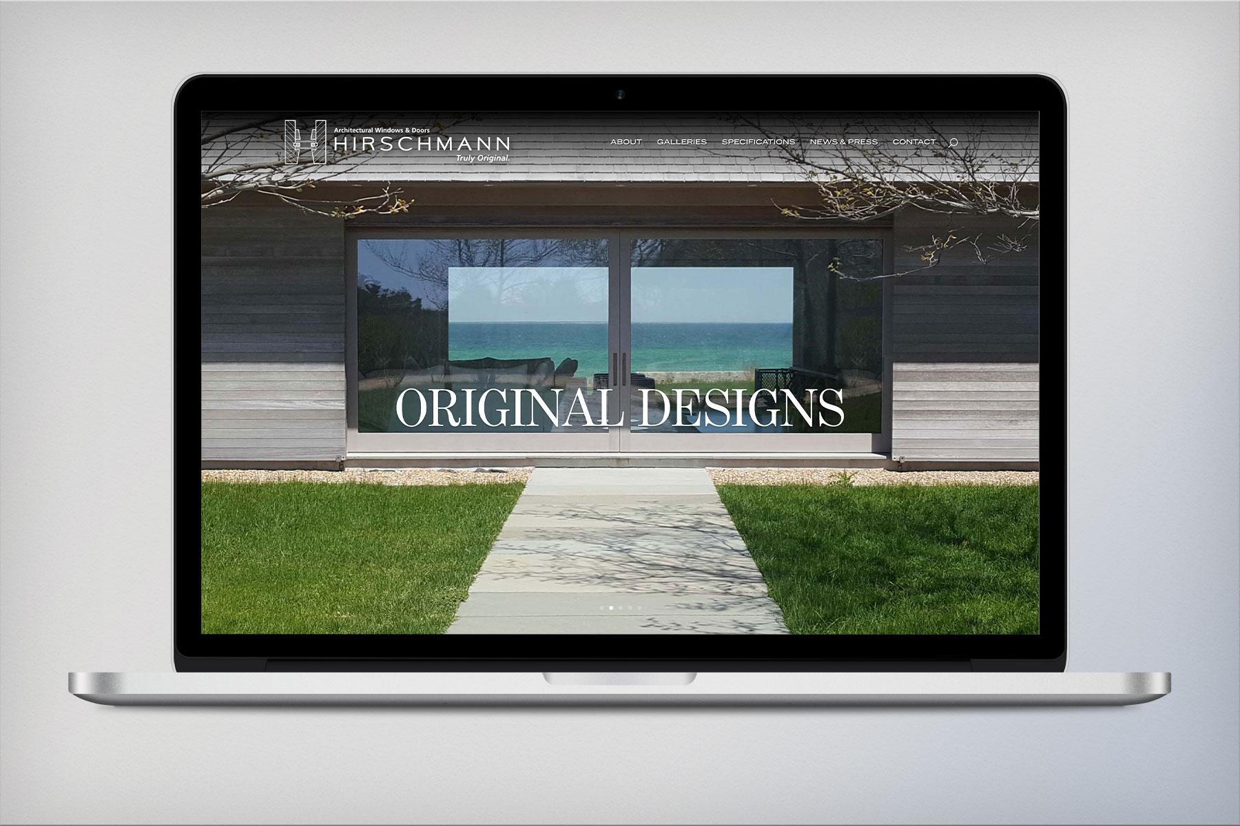 H. Hirschmann LTD - Architectural Wood Windows and Doors - website design and development